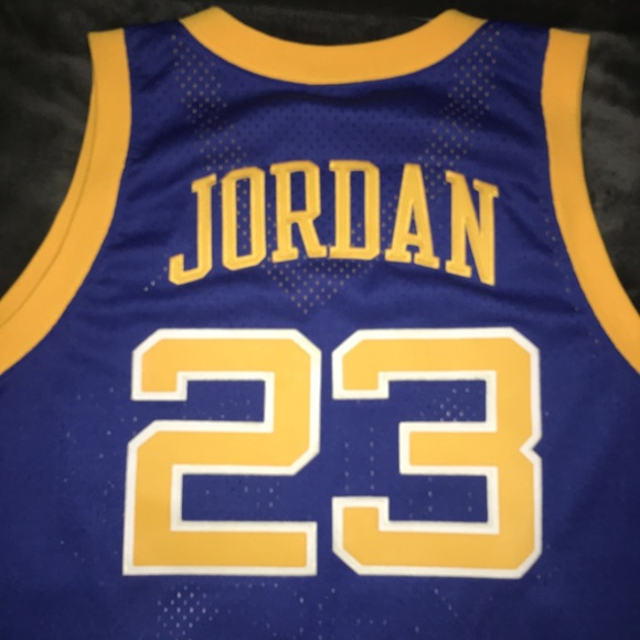 new styles bf5ff 9a5de Michael Jordan Laney High School 1980 Retro Jersey